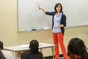 teacher instructing classroom