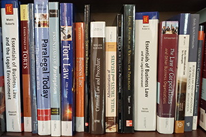 legal books on a shelf