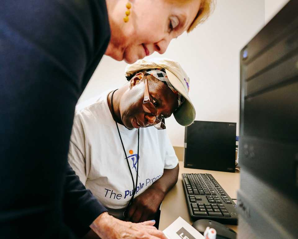 LiFE Coach, Mary Brignole, with LiFE student Esther Jackson - photo credit: The Daily Memphian