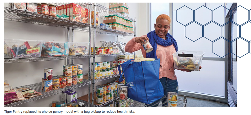 Tiger Pantry replaced its choice pantry model with a bag pickup to reduce health risks.