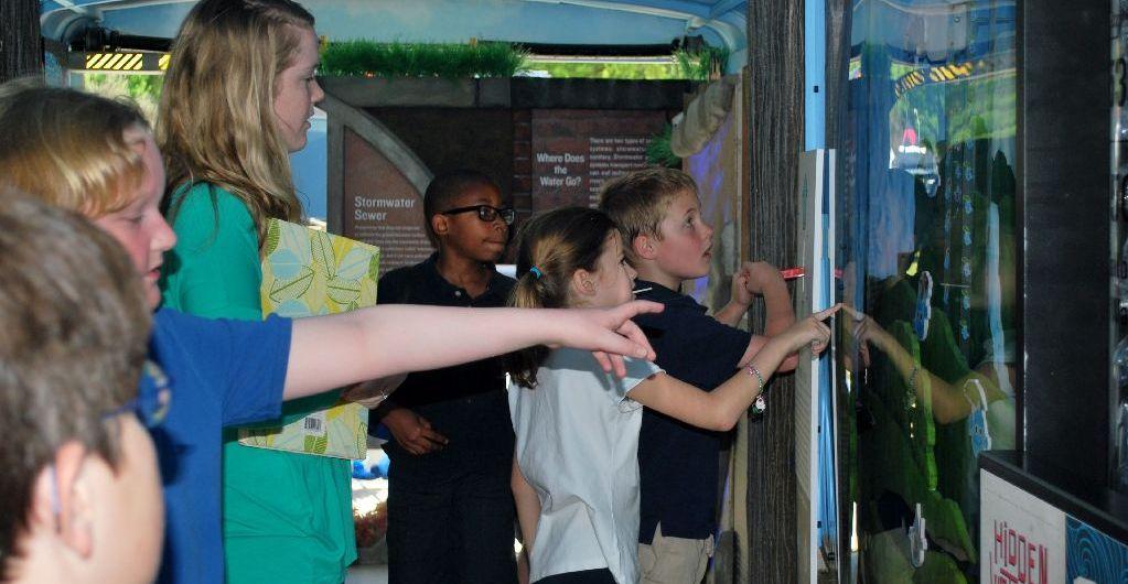 water cycle exhibit water on wheels