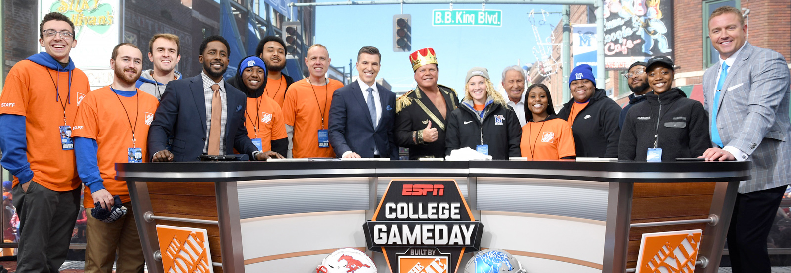 sport & leisure students at ESPN College Gameday