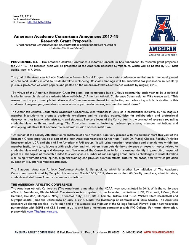 AAC Research Proposal Grant